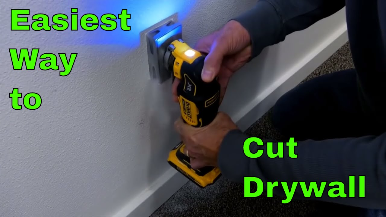 Easiest Way To Cut Drywall For Electrical Receptacle Youtube