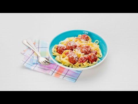 Tagliatelle met veggie balls in tomatensaus - Allerhande