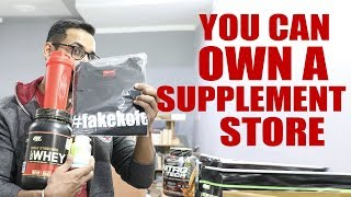 Own a supplement store- free