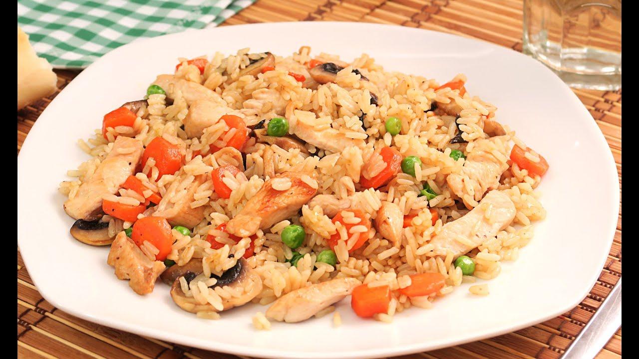 Arroz con pollo receta f cil y r pida youtube for Cocina facil y rapida