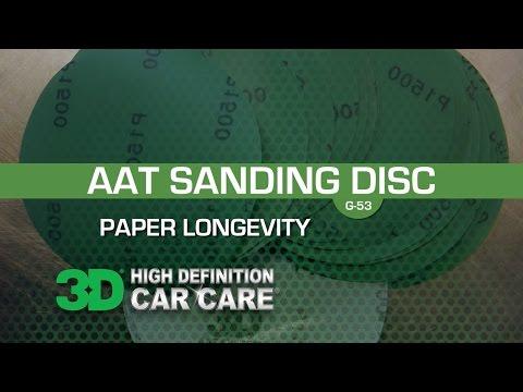 AAT Sandpaper Longevity 1500 grit sand paper