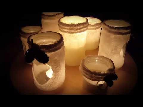 Windlichter aus Salz selber machen Weihnachtsdeko