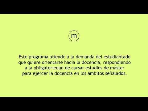 ULPGC.- Máster Universitario Formación del Profesorado