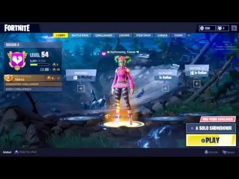  Pro Fortnite console player! Season 4 grind Getting to level 60