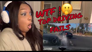 REACTING TO WORLD'S MOST STUPID DRIVERS! Driving fails compilations