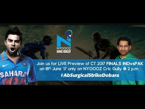 Live India vs Pakistan scorecard final ICC Champions Trophy on cric gully