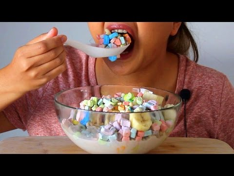ASMR Lucky Charms Marshmallows  *Eating Sounds*