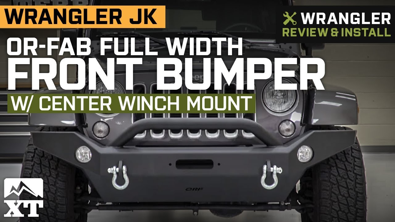 medium resolution of or fab jeep wrangler full width front bumper w center winch mount 83228 07 18 jeep wrangler jk