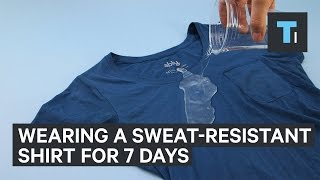 Wearing a sweat-resistant shirt for 7 days straight