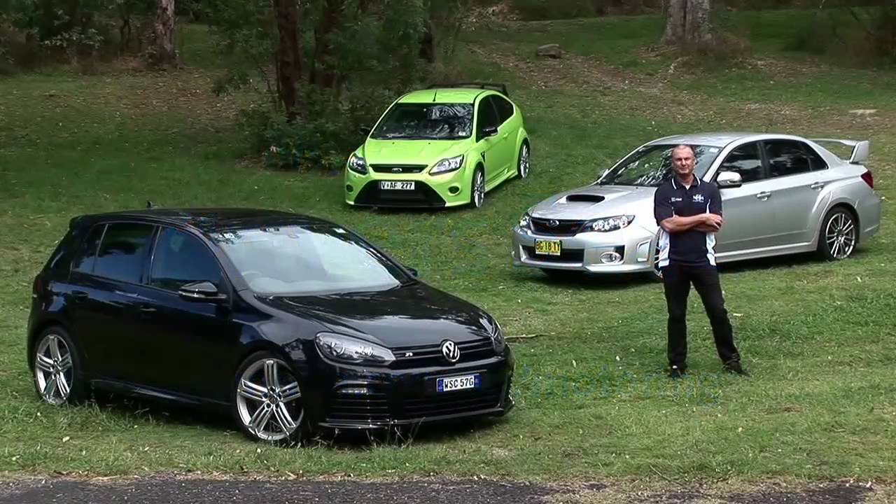 3 Car Comparison - Ford Focus RS, VW Golf R & Subaru WRX ...