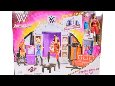 W Superstars Ultimate Entrance Playset Unboxing Toy Review with Nikki Bella Action Figure Doll thumbnail