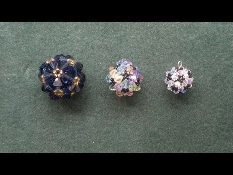 "Beading4perfectionists : ""Beaded ball"" workshop pendant for advanced beaders beading tutorial"