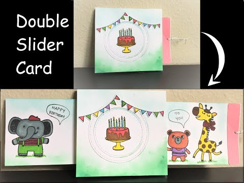 DIY | Double Slider Card | Birthday Card | Handmade