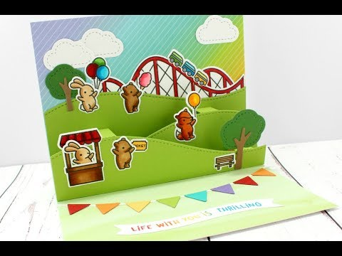 Coaster Critter Pop Up Interactive Card | Lawn Fawn