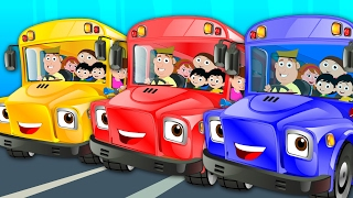 Wheels On The Bus Go Round And Round   Nursery Rhymes   Baby Rhymes   Kids Songs   ...