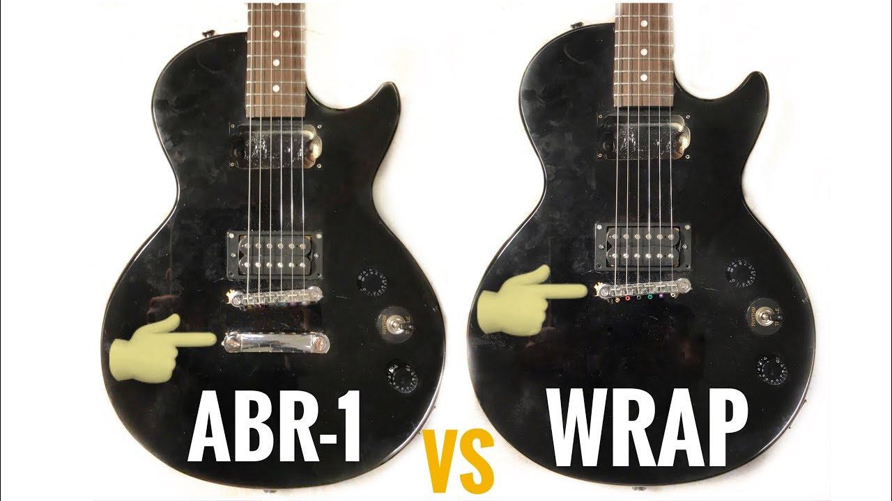 Wraparound Bridge Vs Tune O Matic Bridge On The Same Guitar Youtube