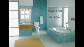 Top Creative Bathroom Wall Design Ideas | Interior Decorating Tour 2019