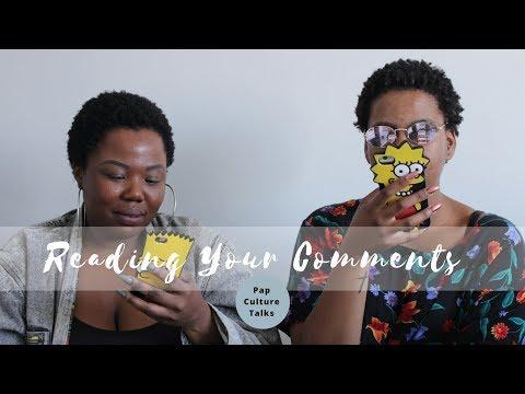 READING YOUR COMMENTS   Pap Culture Talks