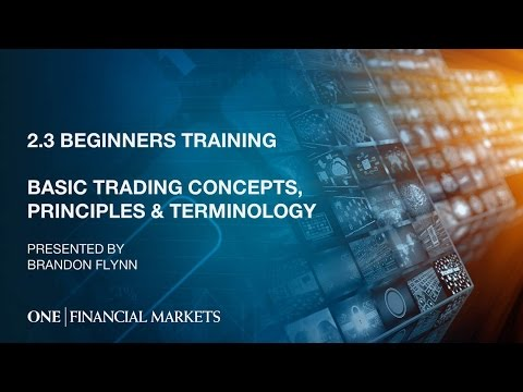 2.3 Basic Trading Concepts, Principles & Terminology