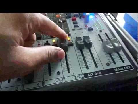 Behringer Xenix X 1204USB - Demonstração De Monitorização