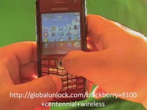 easy way to unlock centennial wireless blackberry 8100 youtube rh youtube com BlackBerry Pearl 8100 BlackBerry Torch 9800