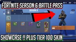 FORTNITE SEASON 6 BATTLE PASS SHOWCASE! TIER 100 SKIN!! - Fortnite: Battle Royale !