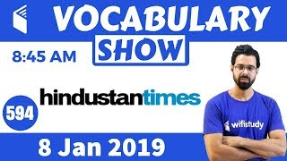 8:45 AM -  The Hindustan Times Vocabulary with Tricks (8 Jan, 2019) | Day #594