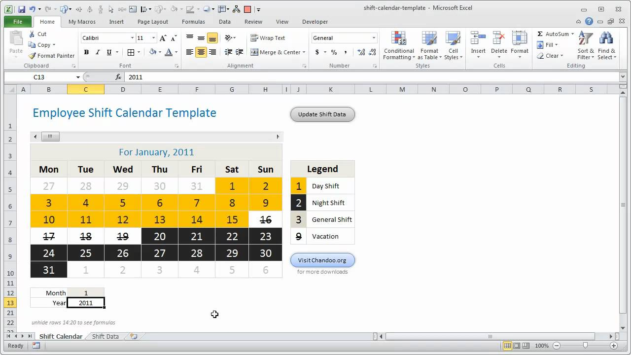 Employee shift tracker excel template how it works youtube alramifo Image collections
