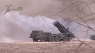 Стрельба РСЗО 'Ураган' (Multiple Rocket Launcher 'Uragan' Firing)