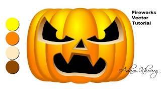 Fireworks CS5 Jack-o-lantern Carving Tutorial Vector Pumpkin Halloween Thanksgiving Scene