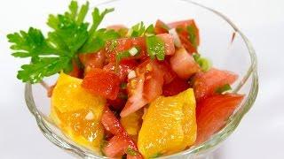 ФИТНЕС САЛАТ С АПЕЛЬСИНАМИ \ Диетический салат с помидорами \ Салат с апельсинами