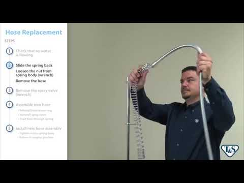 How To Replace A Pre-rinse Unit Hose