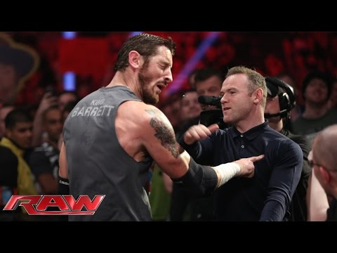Wayne Rooney slaps King Barrett: Raw, November 9, 2015