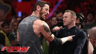 Wayne Rooney slaps King Barrett: Raw, November 9, 2015