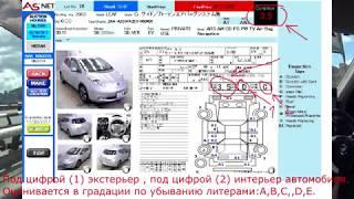аукционный лист. Покупка Японского автомобиля. Выбор авто
