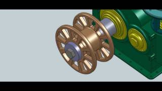 Solidworks Animation - Gearbox Design #3