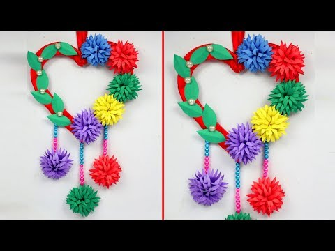 DIY Paper Heart Wall Hanging | Paper Wall Hanging | Room Decor Ideas at home