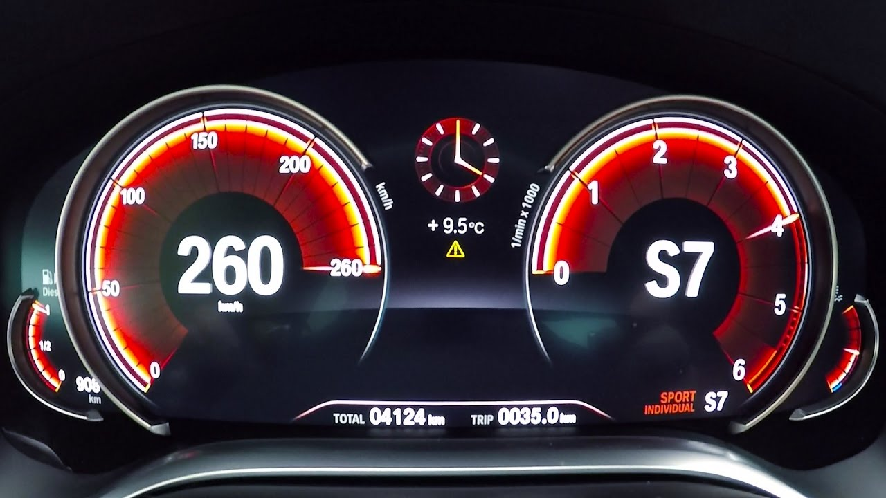 2017 Bmw 730d G11 0 260 Km H Acceleration Top Speed Test Youtube