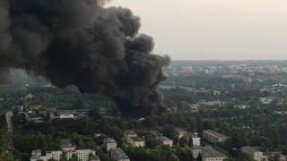 Pożar Sosnowiec z DRONA 16.09.2020 ul.Ostrogórska
