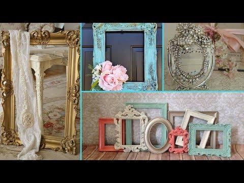 ❤ DIY Shabby Chic Style Photo Frame decor Ideas ❤ | Home decor & Interior design| Flamingo Mango