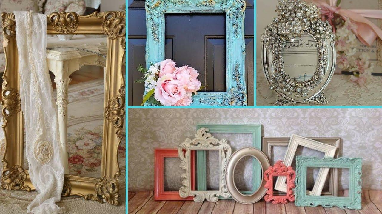 6466777fb3e ❤ DIY Shabby Chic Style Photo Frame decor Ideas ❤