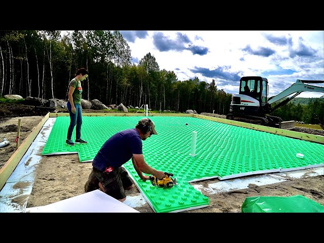 We've Never Done It Like THIS Before! Insulating Our Tiny House FLOOR with Crete Heat