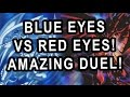 RED EYES VS BLUE EYES! AMAZING DUEL! WHO IS THE BOSS OF THIS GYM?