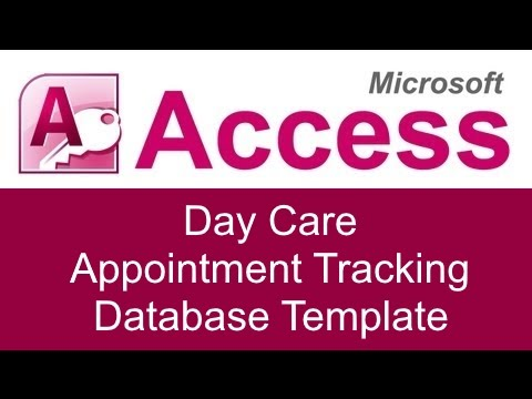 Microsoft Access Day Care Appointment Tracking Database Template