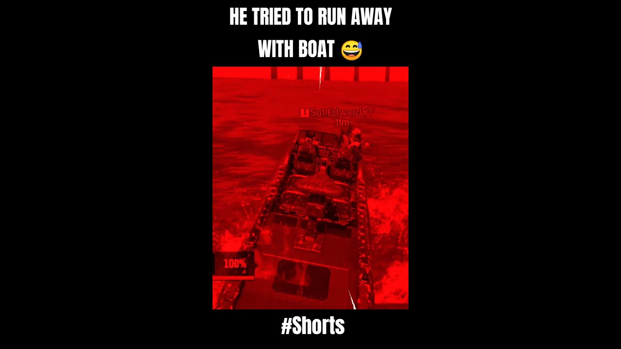 He Tried To Run Away With Boat In CODM 😂 #SHORTS