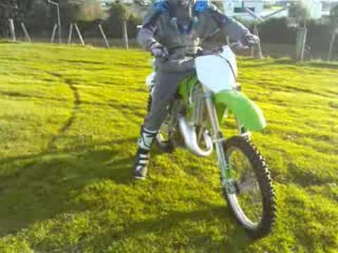my kx 125 2 stroke First test ride - YouTube