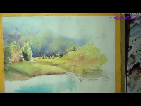Watercolor tutorial Autumn painting in watercolor