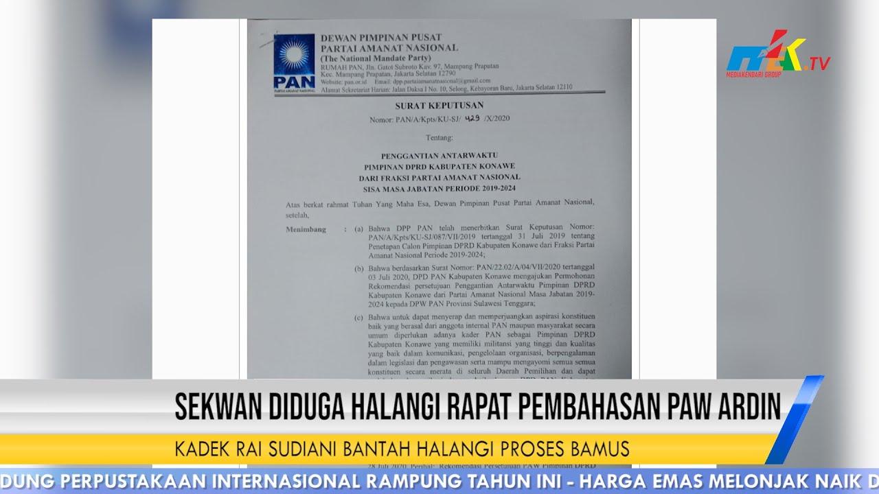 Sekwan Diduga Halangi Rapat Pembahasan PAW Ardin