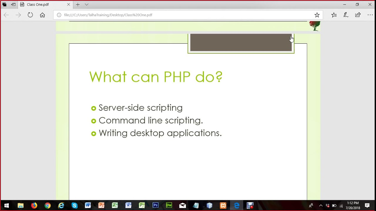 Day 01 P2 Zend Php Certification Training Course Assignment