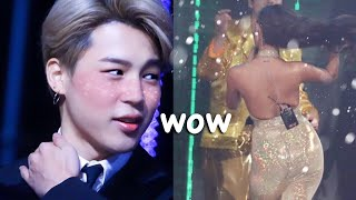 Download video BTS members shocked as  MAMAMOO's Hwasa struts on stage [ZOOMED]
